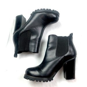 Chinese Laundry Black Block Heel Booties